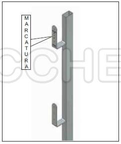 Parapetto provvisorio per cordoli verticali in calcestruzzo 114F