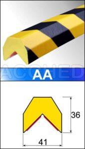 Paracolpi Flessibile di sicurezza- lung. 1 metro mod. A-AA-A+