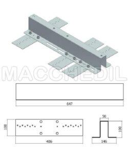 Ancoraggio per tetti in lamiera grecata - passo max 250 mm.