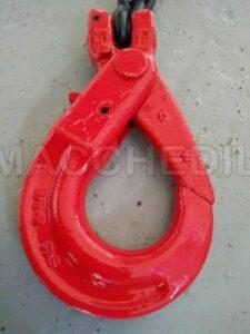 Imbraco a catena per gru- 4 braccia da 4 m- Ø 7- GANCI AUTOBLOCCANTI
