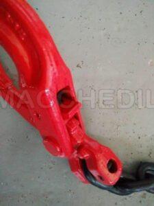 Imbraco a catena per gru- 4 braccia da 2.5 m-Ø 7- GANCI AUTOBLOCCANTI