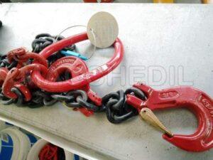 Imbraco a catena per gru tiranti a 2 braccia ø 8