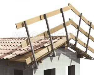 Parapetto provvisorio laterale per tetti in legno 112LS