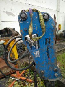 martello usato per miniescavatore